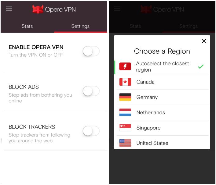 Opera VPN (iOS)