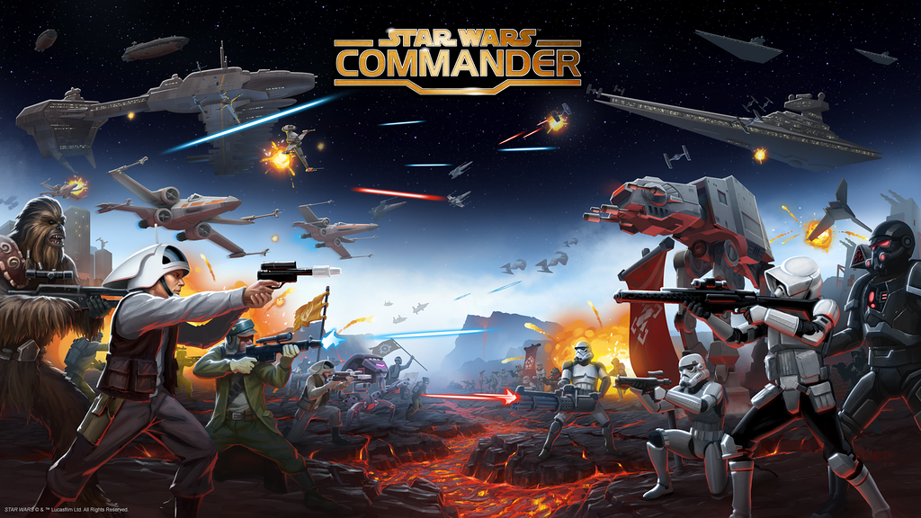 Star Wars Commander promo art.