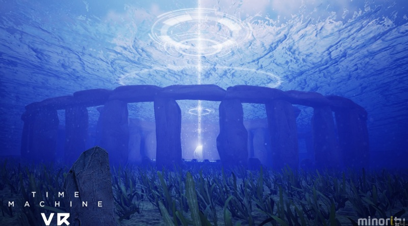 Stonehenge is underwater in Time Machine Vr.