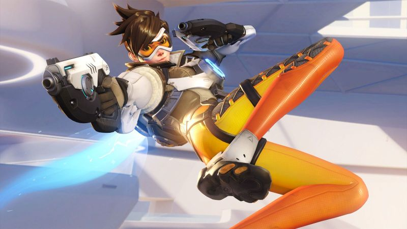 Tracer (and her butt) from Overwatch.