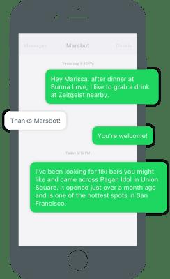 Foursquare Marsbot app