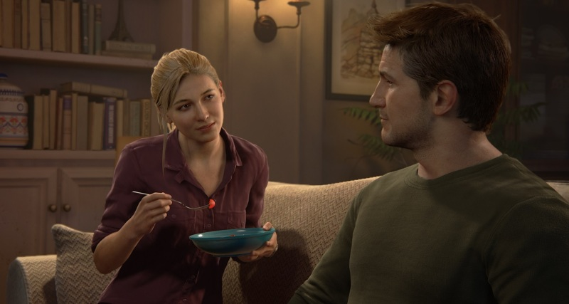 Elena and Nathan lead a boring life at the outset of Uncharted 4: A Thief's End.
