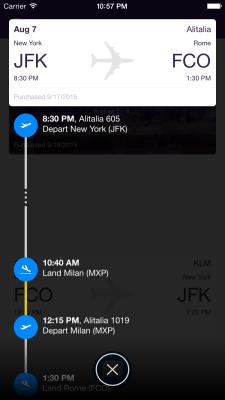 Hyper Flight itinerary