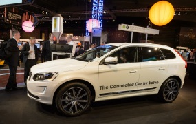 This photo shows Connected Car at Mobile World Congress Barcelona 2014