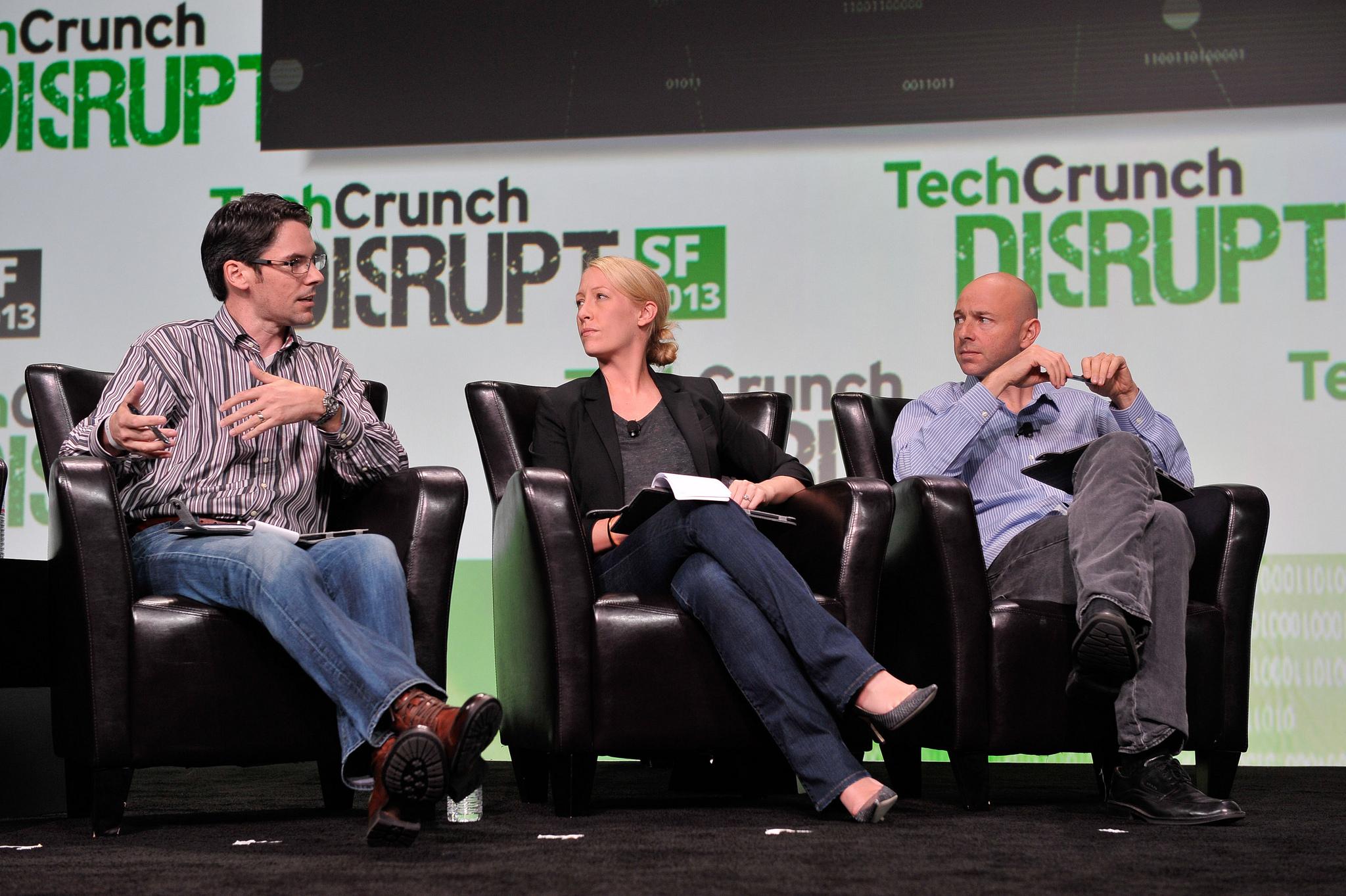GV's Rick Klau on stage at TechCrunch Disrupt San Francisco on September 9, 2013.
