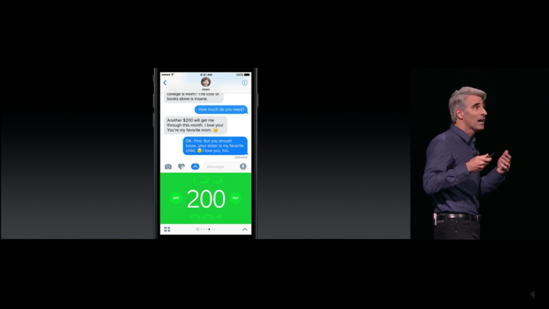 The Square Cash iMessage App for Messages in iOS 10.