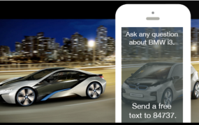 """The """"BMW i Genius"""" chatbot from 2013 was featured in TV commercials, print ads and online."""