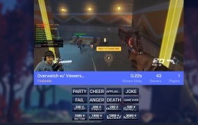 A screenshot of Beam's WebRTC-powered live-stream gaming