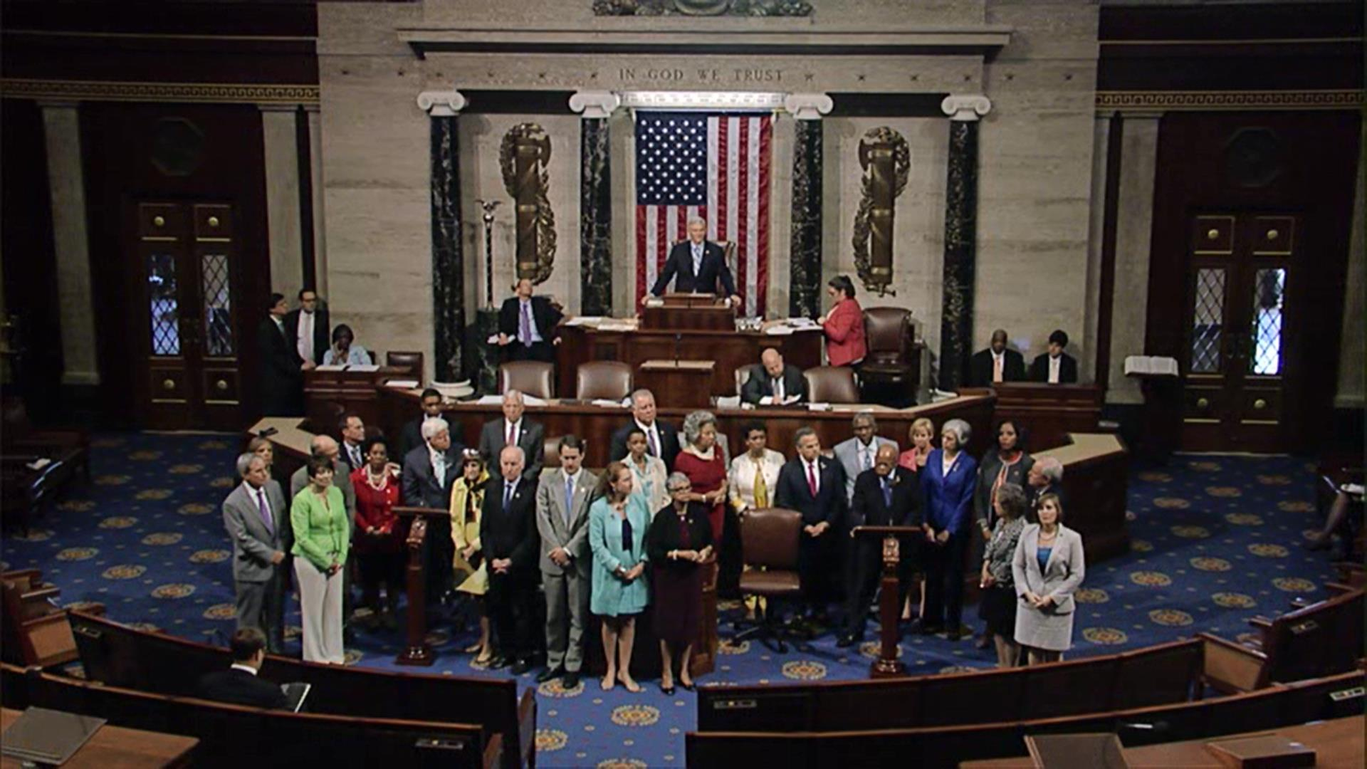 U.S. House Democrats begin their sit-in protest of no gun control measures being voted on in the chamber.