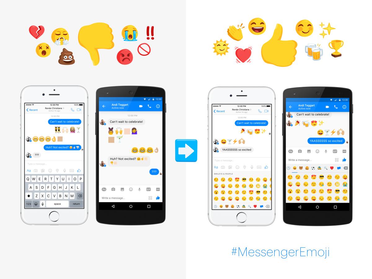 Facebook Messenger's emojis now look the same on all platforms
