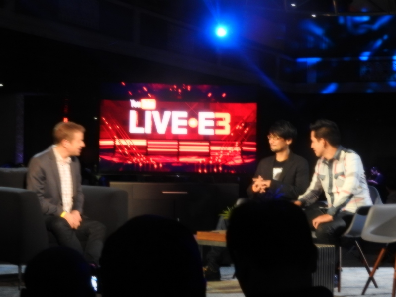 Geoff Keighley interviews Hideo Kojima on YouTube at E3.