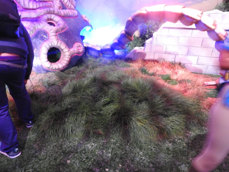 Grass at Zelda booth.