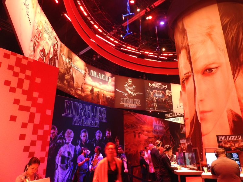 Square Enix's booth