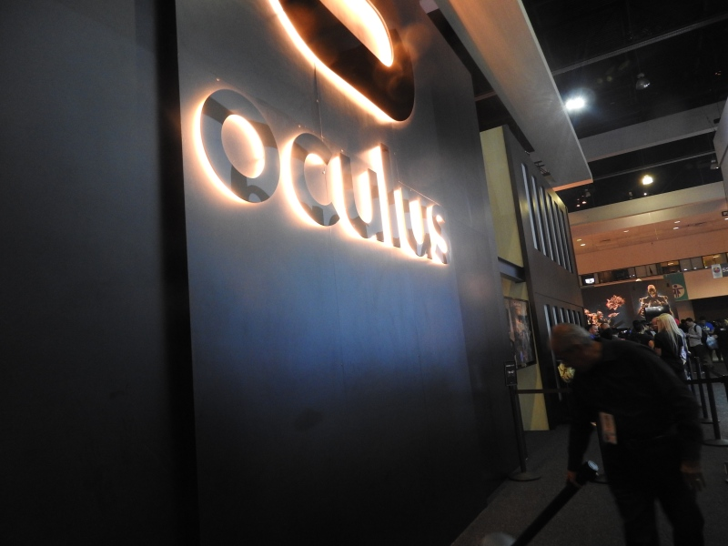 Oculus VR had a big booth to tout virtual reality. There were 53 VR companies.