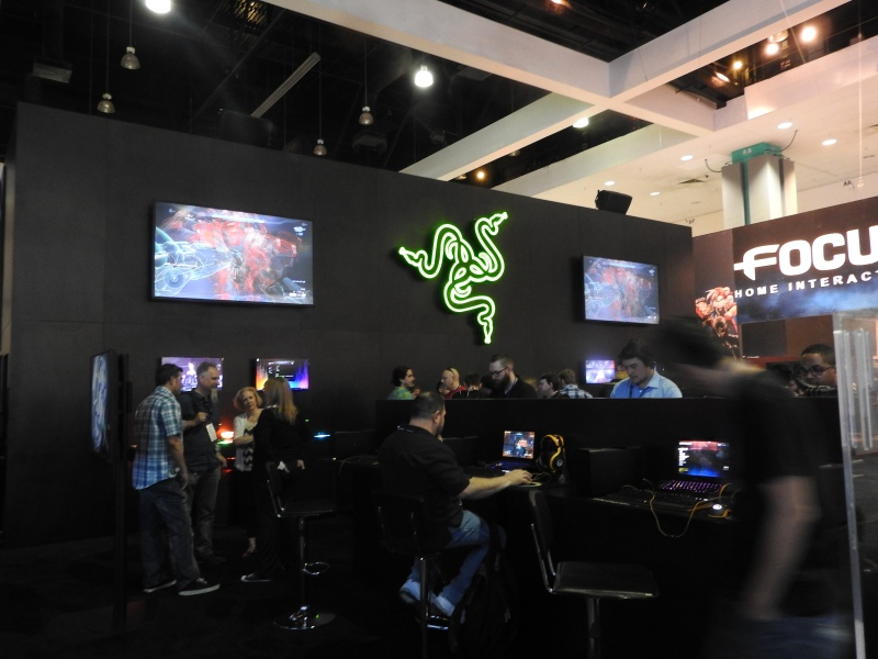 Razer's booth at Electronic Entertainment Expo in Los Angeles.