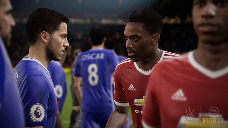 FIFA 17 E3 2016 - Martial Hazard Lineup