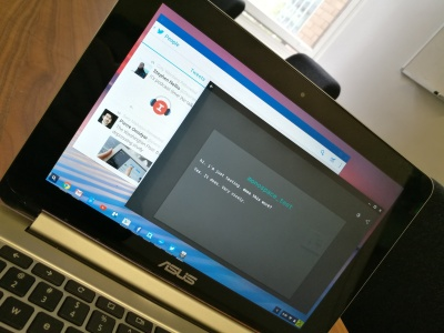 I'm running Android apps on a Chromebook, and it's dope