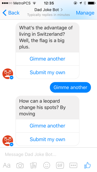 These dad joke chatbots got here just in time for Father's