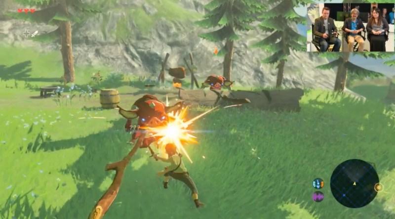 The Legend of Zelda: Breath of the Wild has Link cooking