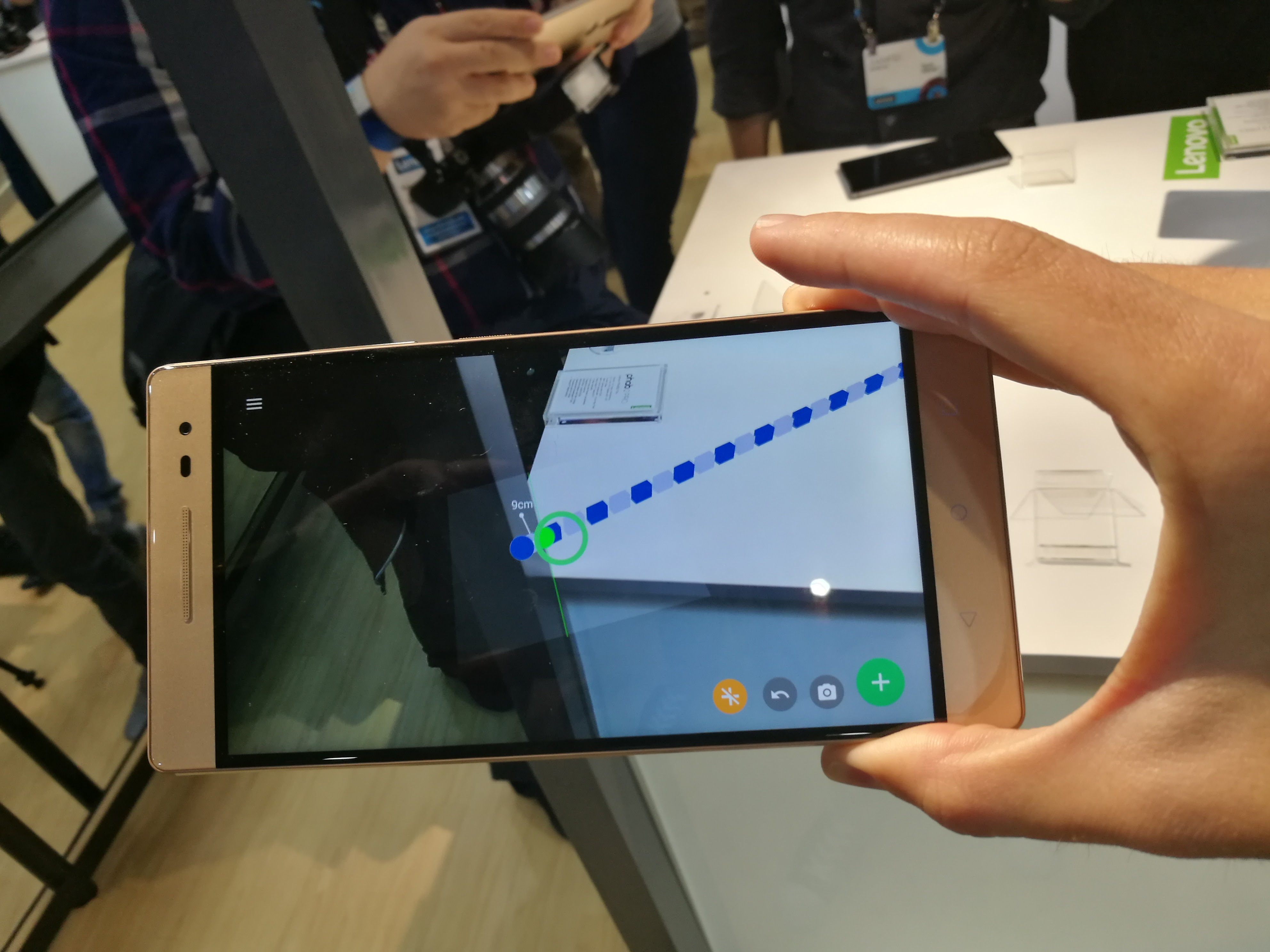 A Google Tango app on the Lenovo Phab2 Pro.