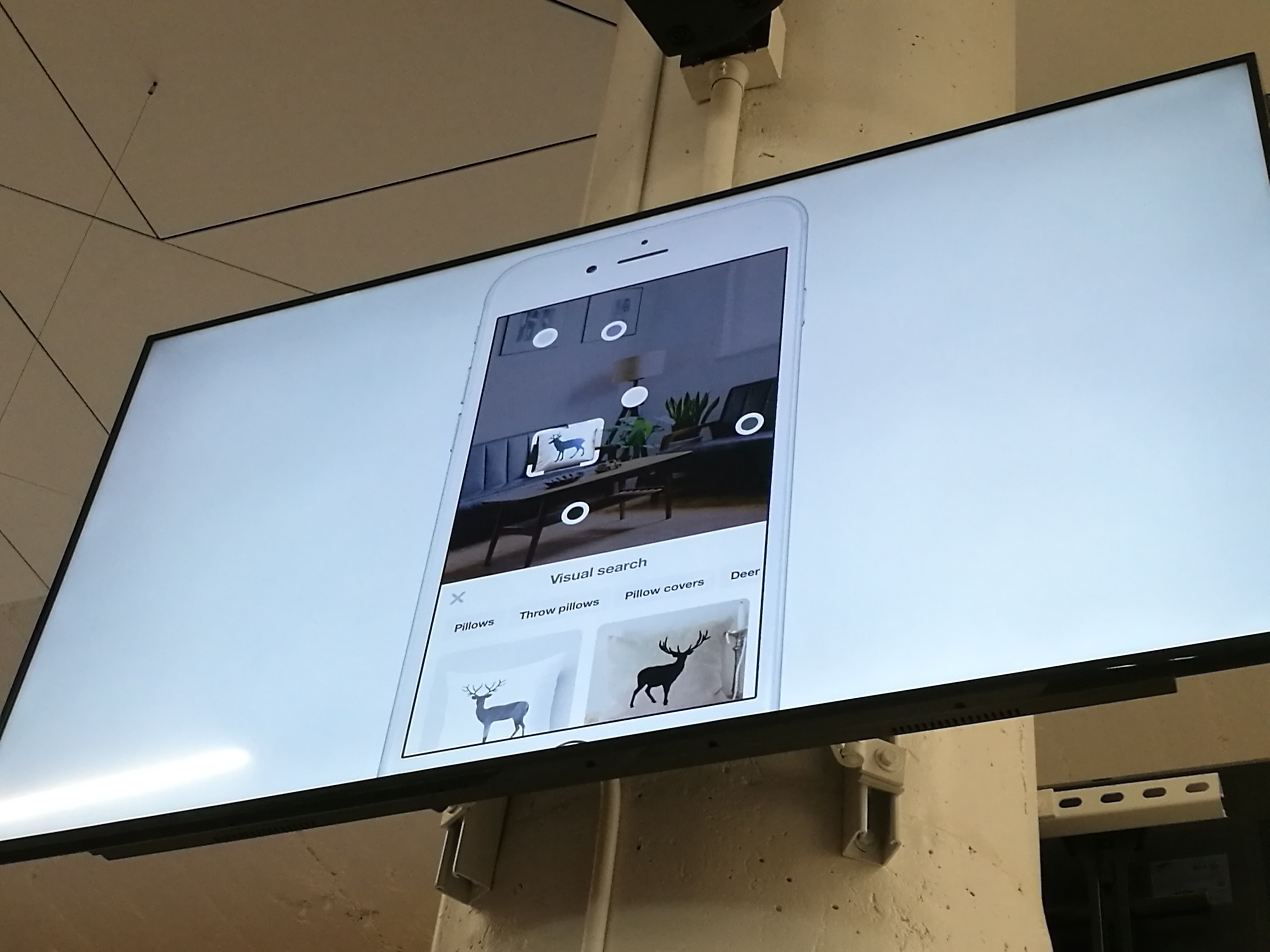 Pinterest visual search with the camera on iOS.