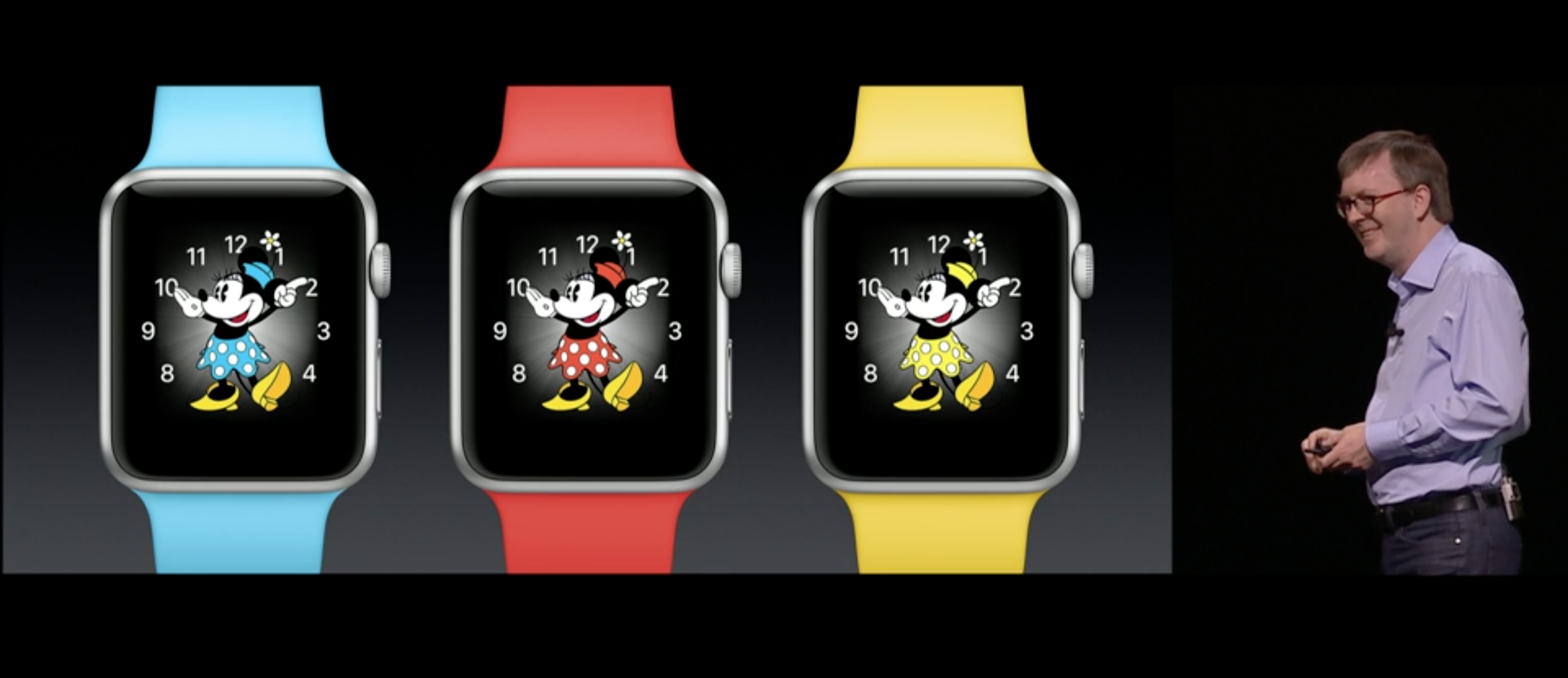 Minnie watch faces coming in Apple's watchOS 3 for the Apple Watch.