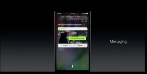 Siri API at work.