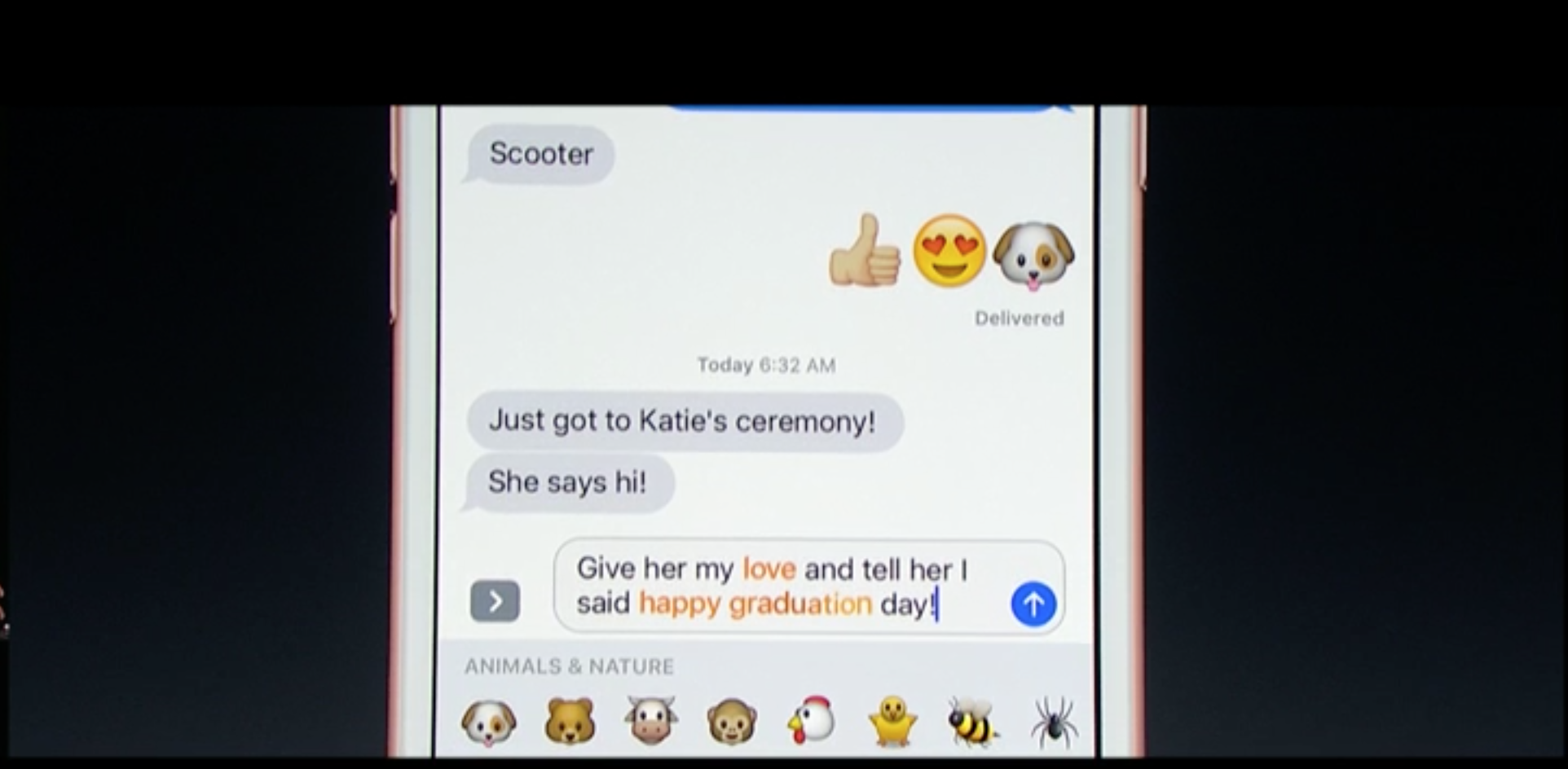 The upcoming version of iOS will include the ability to turn certain words into emoji automatically.