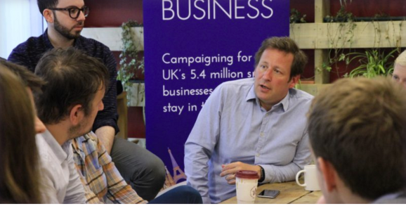 This is a picture of Ed Vaizey, HM Minister of State for Culture, Communications and Creative Industries.