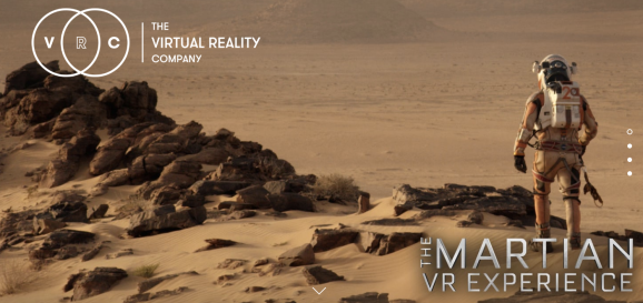 This image shows a screenshot from Virtual Reality Company website
