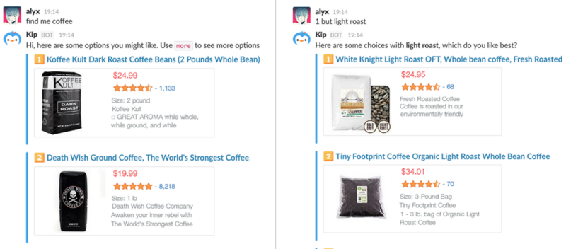 This is a screenshot of the Kip shopping bot.