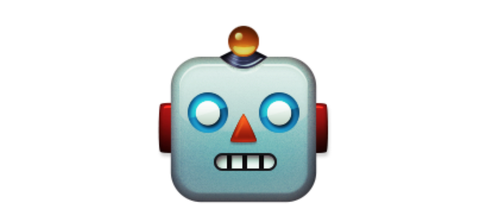 This image shows a Screenshot of a Robot Face emoji