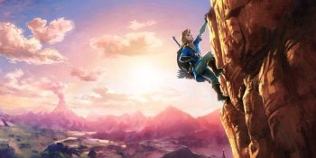 More Zelda Wii U art: See that mountain? You can climb it