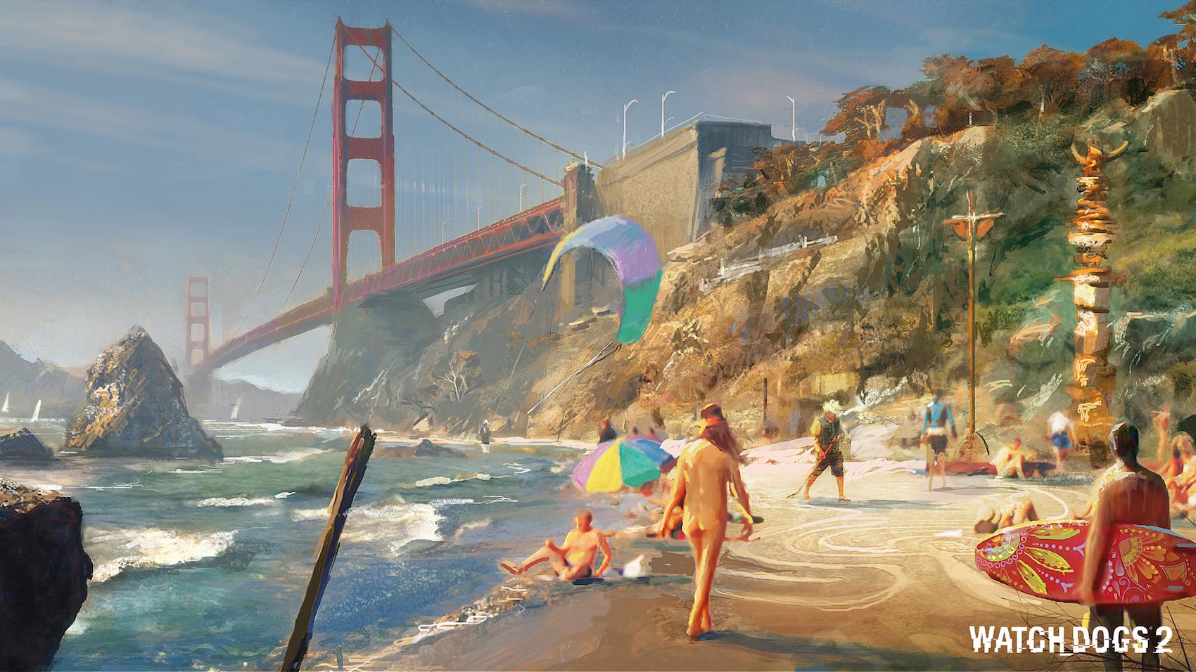 Watch Dogs 2: Baker Beach concept art