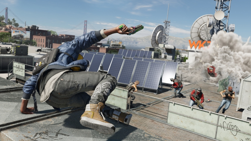 Action in Watch Dogs 2.