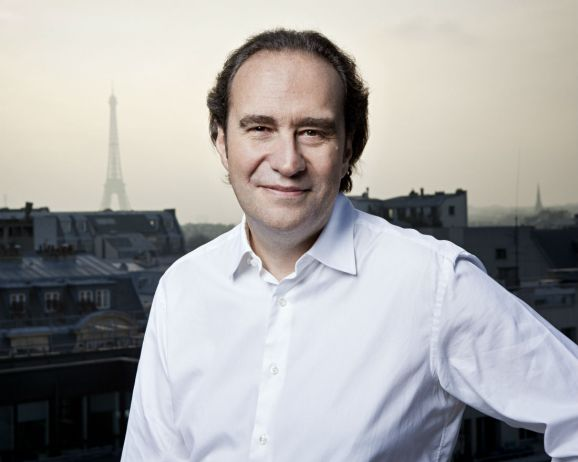 This photo shows Xavier Niel, founder of 42, a tuition-free coding university with campuses in Paris and Silicon Valley .