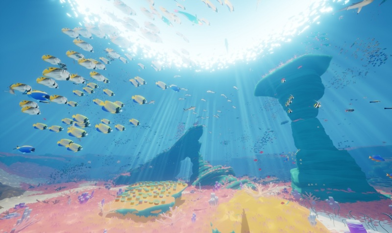 You could see thousands of fish at once in Abzû.