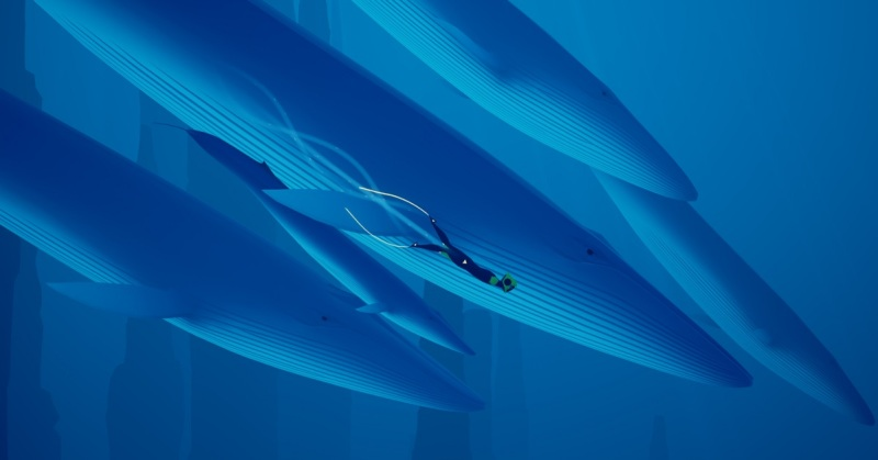 You can ride on a blue whale in Abzû.