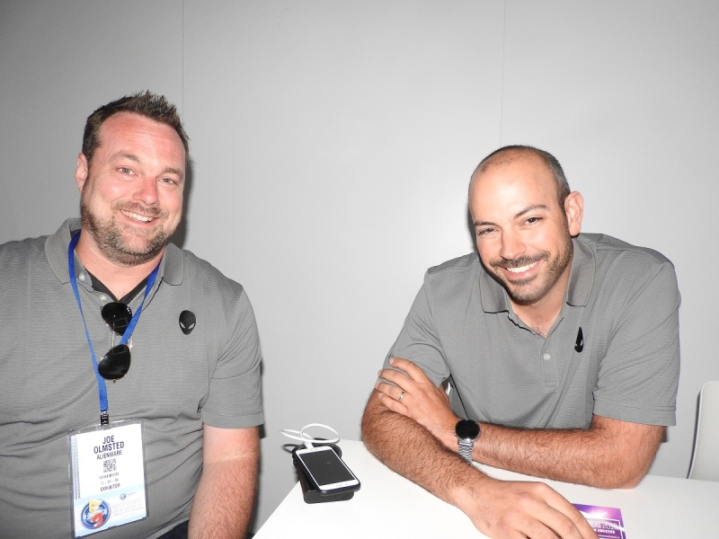 Alienware's Joe Olmstead (left) and Frank Azor.