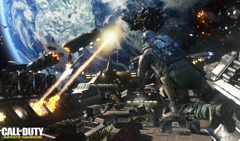 Call of Duty: Infinite Warfare space infantry combat.