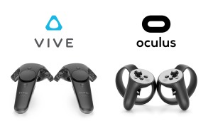 See how the Vive controller tapers in thickness from the top to bottom. Notice also how the Touch's handles look a lot like the grips of a DualShock.