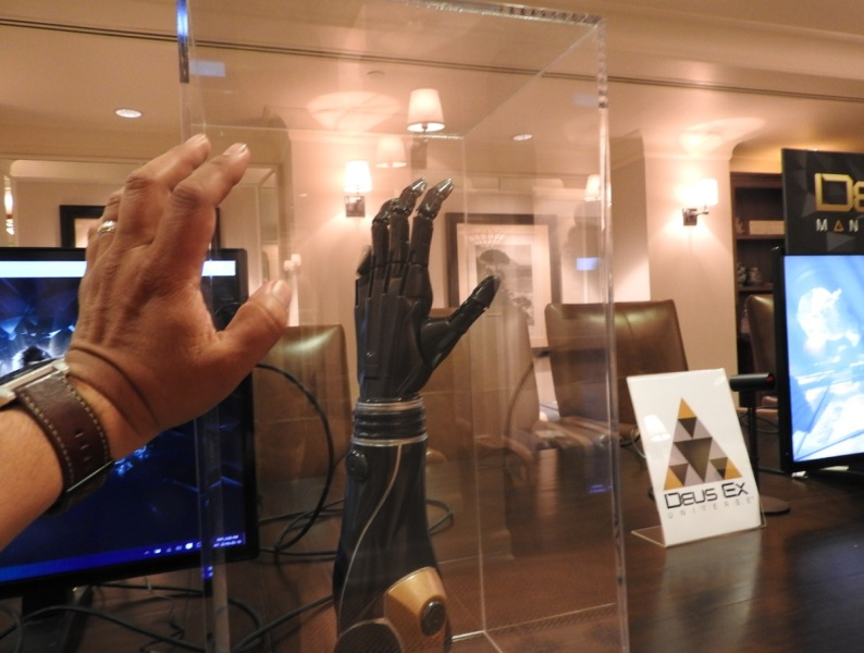 A prosthetic arm based on the Deus Ex universe from Open Bionics, Razer, and Eidos Montreal.
