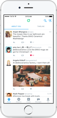 Twitter Dashboard lets businesses create custom feeds to monitor what's being tweeted about them.
