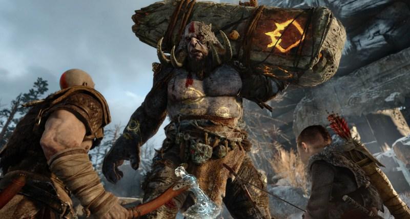 A troll fight in God of War