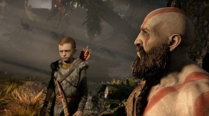 God of War's Kratos and his son.