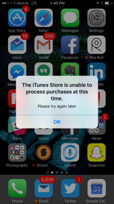 Downtime for the App Store.