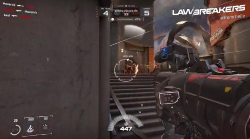 Rocket launcher in action in Lawbreakers.