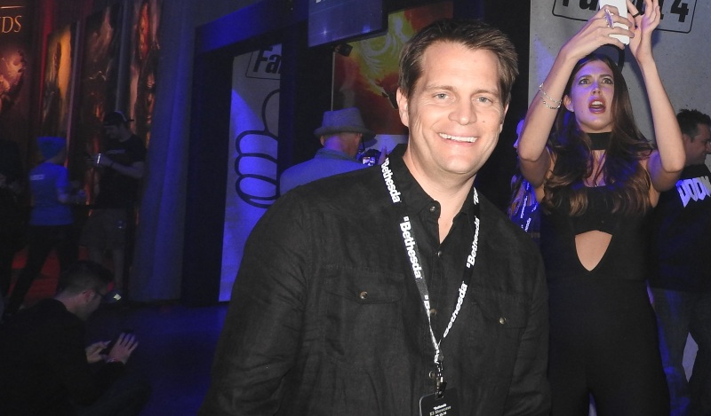Marty Stratton at Bethesda's BE3 party