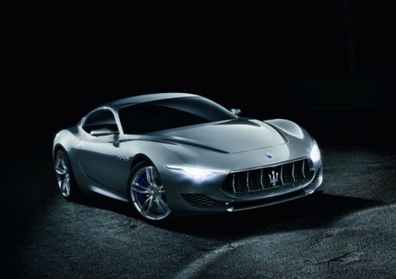 This is a photo of the Maserati Alfieri concept car, 2014 Geneva Motor Show.