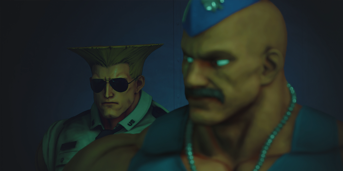 Street Fighter V Narrative Guile and Some Guy